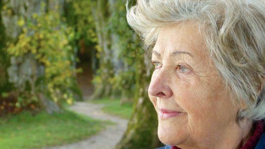 Dementia, elderly lady