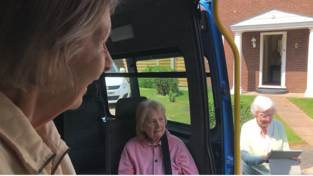 Keeping spirits high, minibus visits from the care home