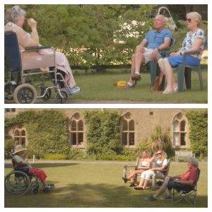 Keeping spirits high, socially distanced visits at care homes
